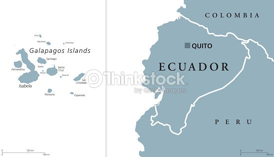 Galapagos On World Map.Ecuador And Galapagos Islands Political Map Vector Art Thinkstock