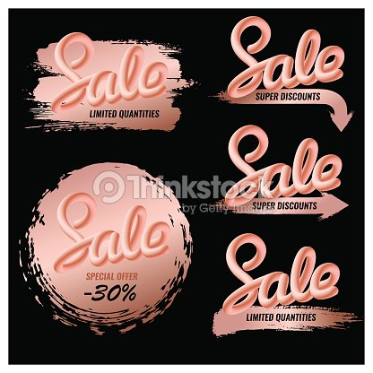 Editable set of sale banners for makeup, cosmetics.
