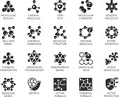 Editable Stroke. 48x48 Pixel Perfect 20 icons in flat style for scientific, chemistry, physical, medical, educational projects. Vector abstract black logo isolated