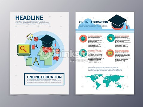 education and school brochure design template vector flyer vector