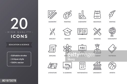 Education and Science Icons : Vector Art