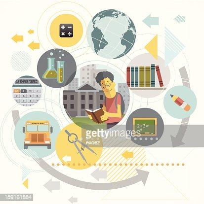 design conceito de Educação : Arte vetorial