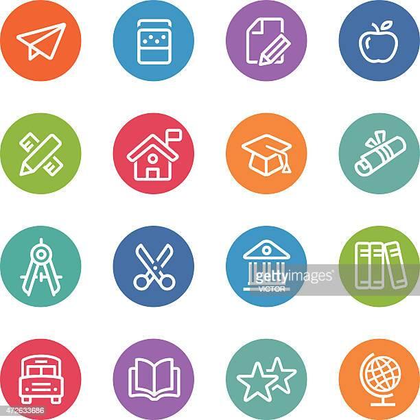 Iconos educación-Serie Circle Line
