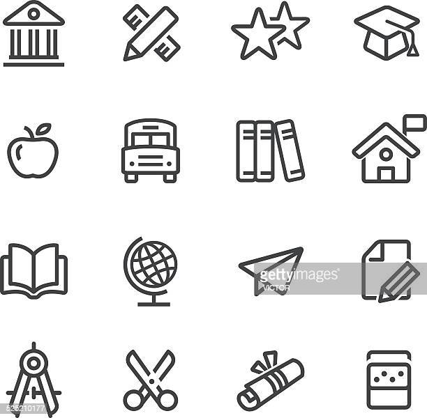 Serie de iconos de la educación