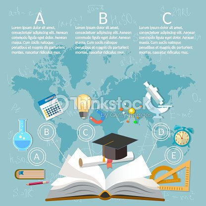 Education infographics open book of knowledge on world map vector education infographics open book of knowledge on world map vector art gumiabroncs Gallery