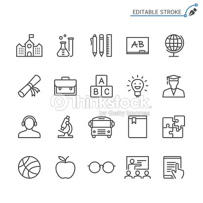 Education line icons. Editable stroke. Pixel perfect. : stock vector