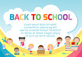 education object on back to school background, back to school, Kids school, education concept, Template for advertising brochure, your text ,Vector Illustration