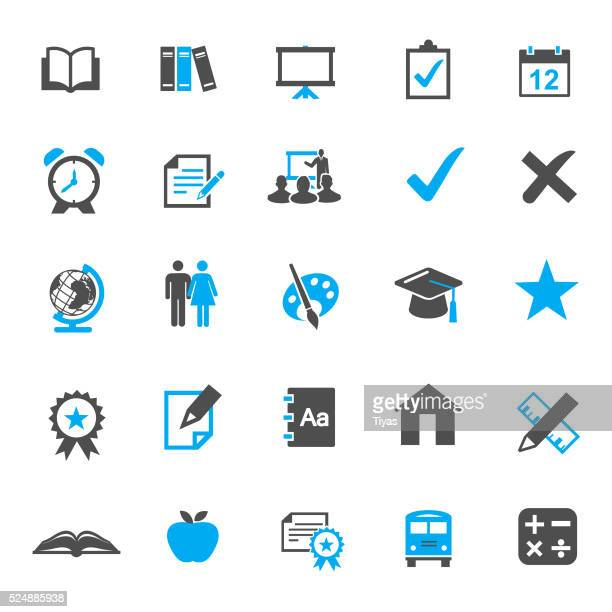 Education vector Icon Set