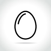 Illustration of egg icon on white background