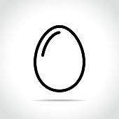 Illustration of egg icon on white background