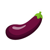 eggplant Icon with Shadow