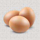 Eggs Set Gradient Mesh, Vector Illustration