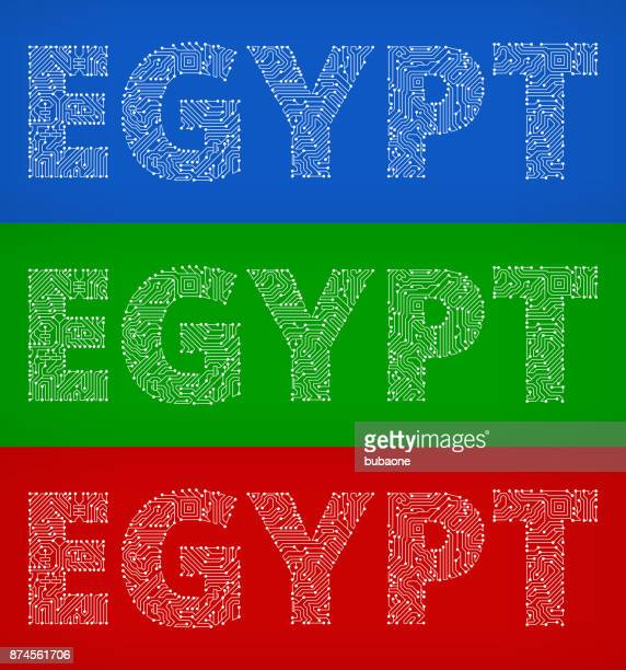 Egypt Circuit Board Color Vector Backgrounds