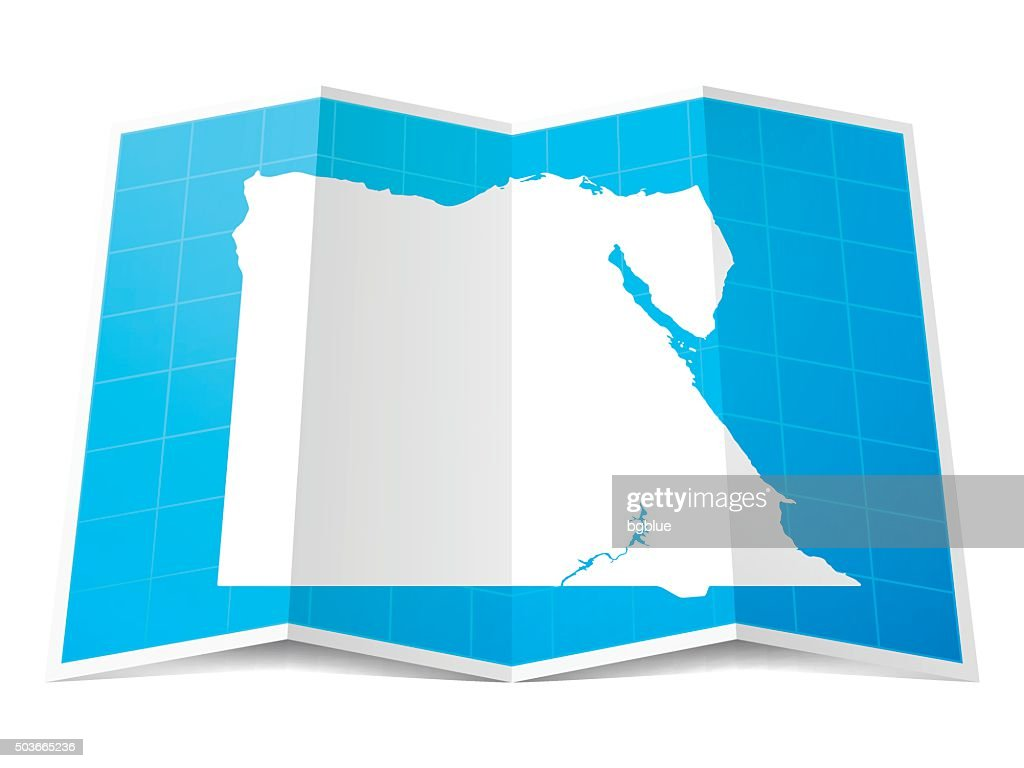 Egypt Map Folded Isolated On White Background Vector Art Getty - Map of egypt vector