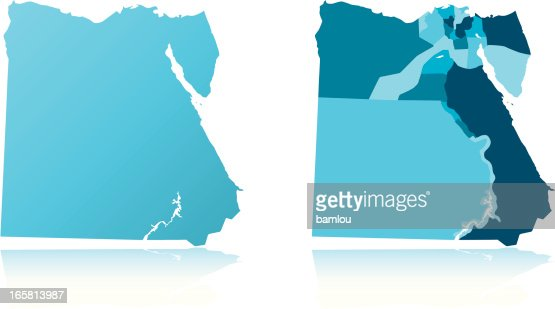 Egypt Map Vector Art Getty Images - Map of egypt vector