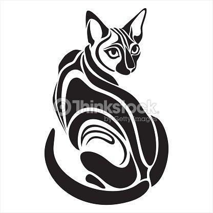 196 Gyptische Schwarze Katze Gef 228 Hrlich Ein Tattoozeichnung
