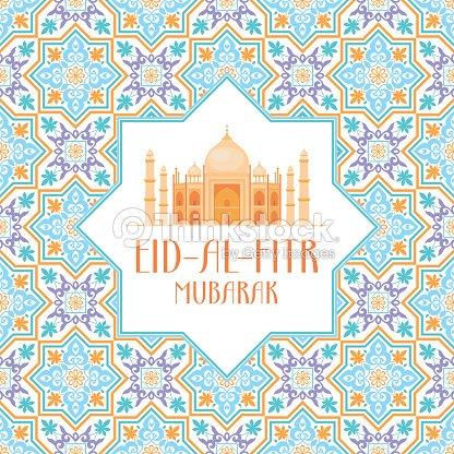 Eid al fitr greeting card vector art thinkstock eid al fitr greeting card vector art m4hsunfo