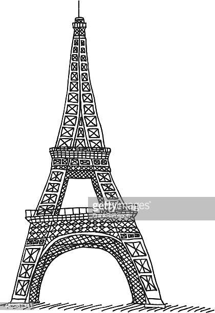 Line Drawing Eiffel Tower : Eiffel tower stock illustrations and cartoons getty images