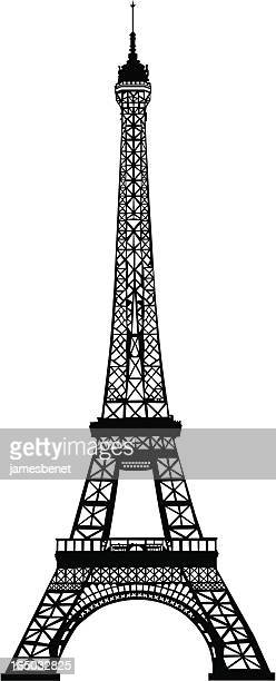 エッフェル塔のイラスト素材と絵エッフェル塔のイラスト素材と絵