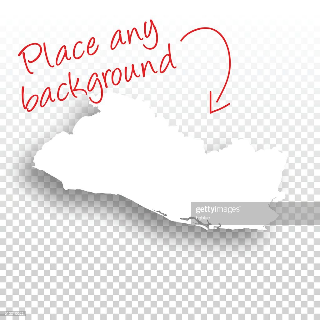 el salvador map for design blank background vector art getty images