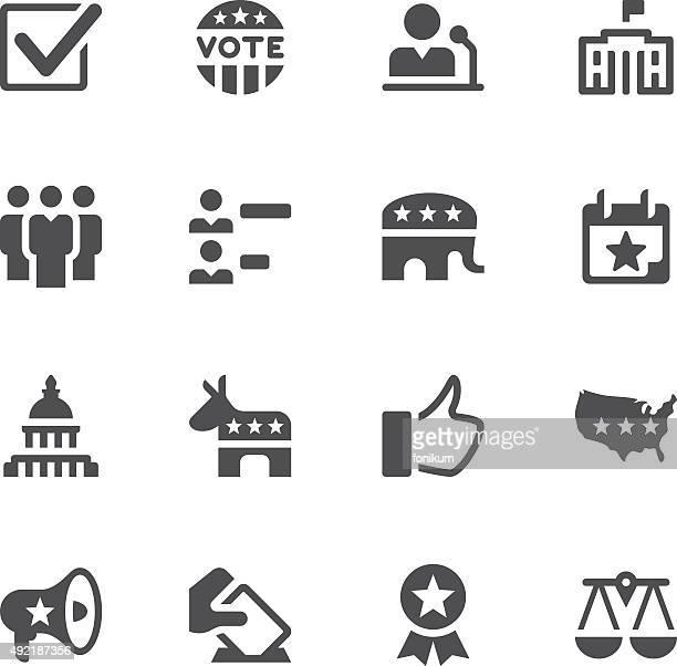 Wahl und Politik Symbole