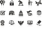 Simple election and politics related vector icons for your design and application. Files included: vector EPS, JPG, PNG.