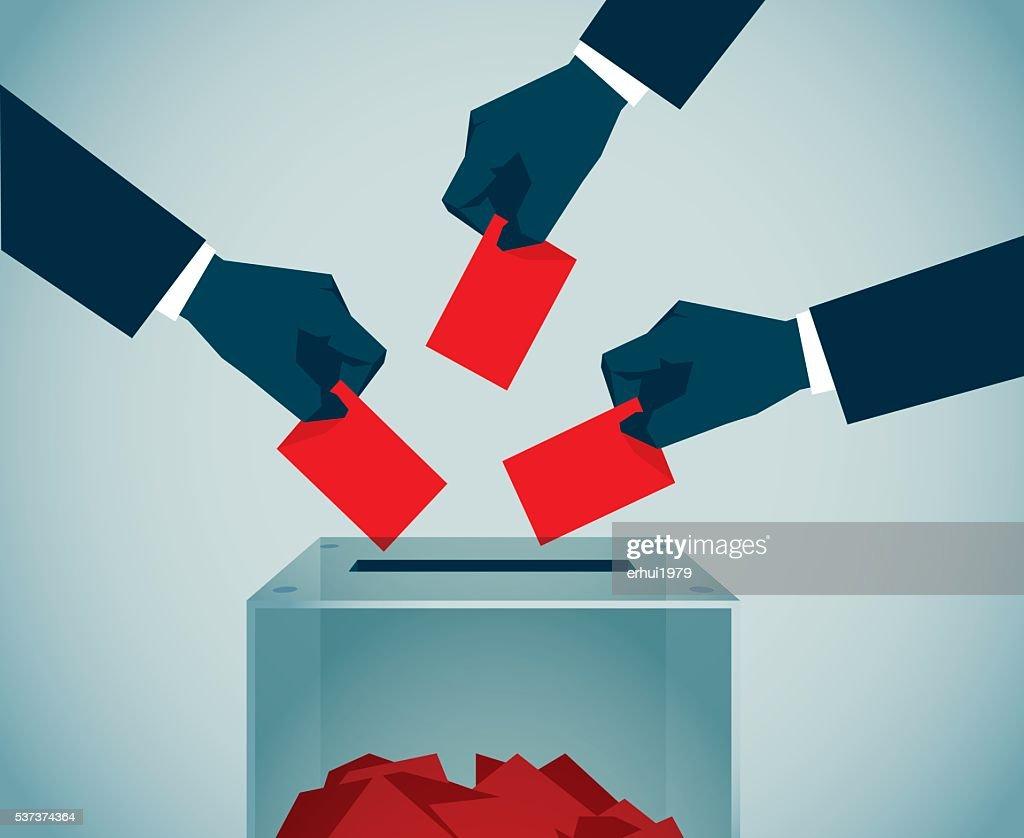 Politische Wahl : Vektorgrafik