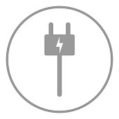 Electric charging station sign. Plug icon. Vector.
