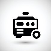 Electric generator icon isolated on grey. This illustration - EPS10 vector file, contain transparent elements.
