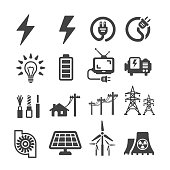 electric icon set,vector illustration