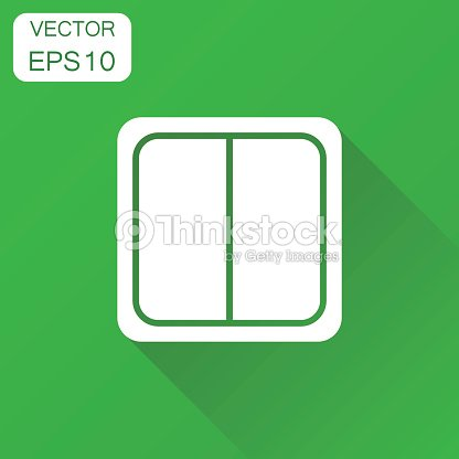 Electric Light Switch Icon Business Concept Pictogram Vector Illustration On Green Background