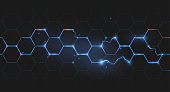 electric lightning honeycomb background in vector