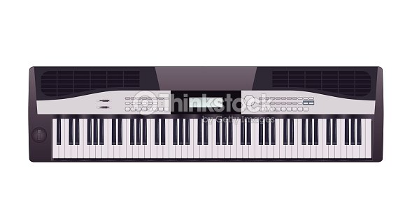 Electric Piano Vector Art
