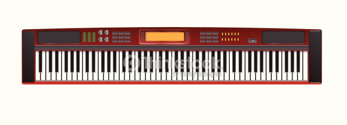 Electric Piano Vector Images Art