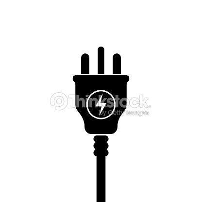 UK Electric Plug icon, symbol. United Kingdom, Great Britain standart. lightning sign : stock vector