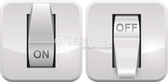 Electric Switch Icon Vector Art