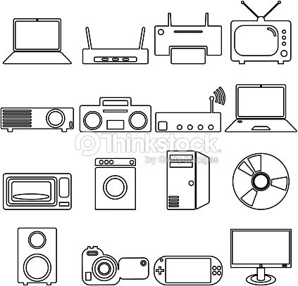 Electrical Devices Symbols Vector Art | Thinkstock