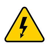 Electrical hazard sign. High voltage danger symbol. Vector illustration