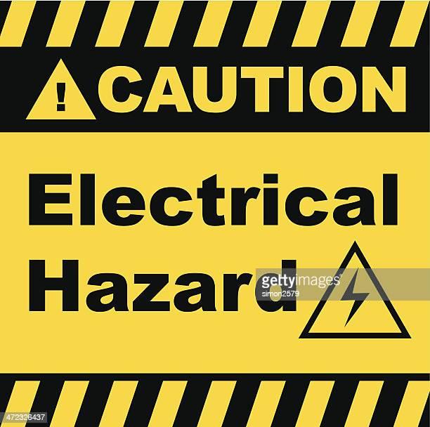 Señal de advertencia de peligro eléctrico