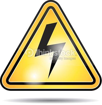 Gefahr Elektrische Energie Symbol Vektorgrafik | Thinkstock
