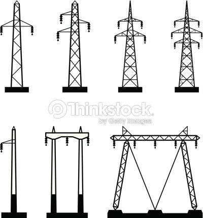 Délectricité Tour De Transmission Types Clipart vectoriel | Thinkstock