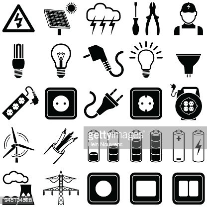 Electricity icons : stock vector