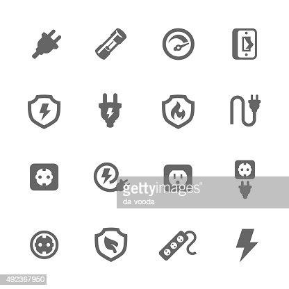 Electro sockets : stock vector
