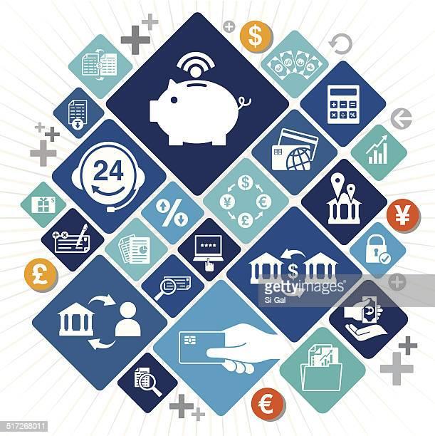 Electronic Banking Icons