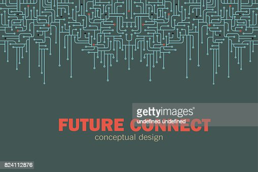 Fond Abstrait vectoriel de circuit électronique. : clipart vectoriel