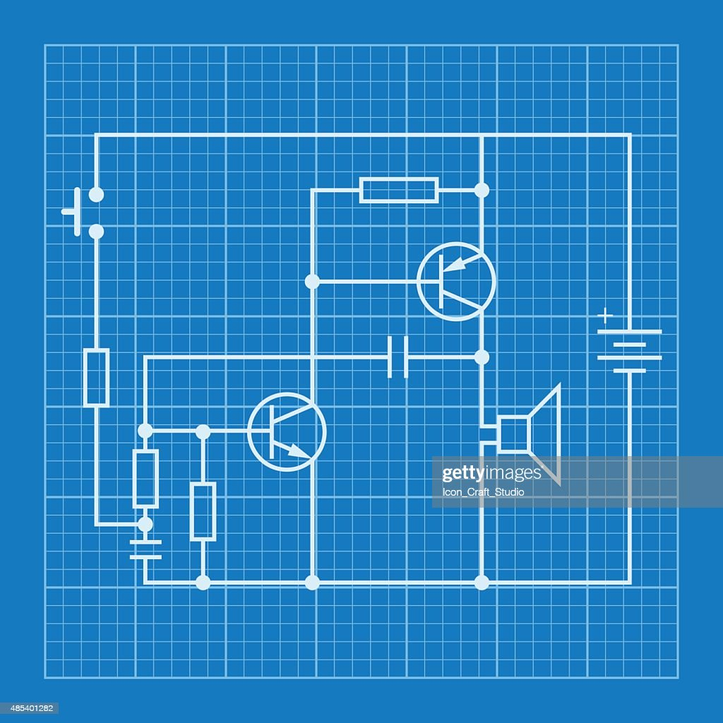 Electronic circuit blueprints information of wiring diagram electronic circuit scheme blueprint background vector art thinkstock rh thinkstockphotos in robot blueprints circuit reading circuit board blueprints malvernweather Gallery