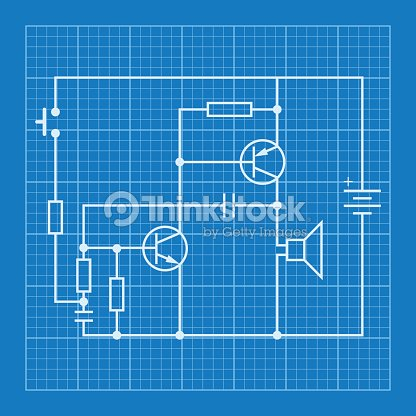 Electronic Circuit Scheme Blueprint Background Vector Art | Thinkstock