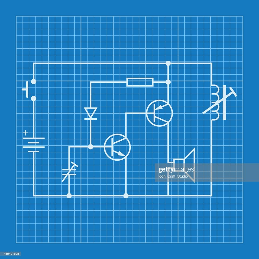 Electronic circuit blueprints information of wiring diagram electronic circuit scheme blueprint background vector art thinkstock rh thinkstockphotos com robot blueprints circuit robot blueprints circuit malvernweather Gallery
