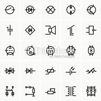 Elektronische Komponenten Symbole Vektorgrafik   Thinkstock