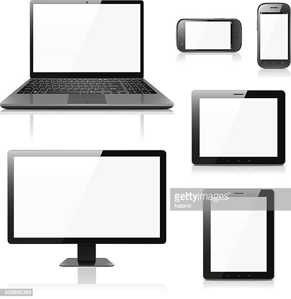 Electronic devices with blank screens